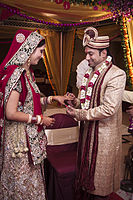 Ring ceremony, Indian Hindu wedding.jpg
