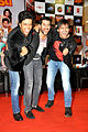 Riteish Deshmukh, Aftab Shivdasani & Vivek Oberoi at audio release of 'Grand Masti' at R-City Mall.jpg