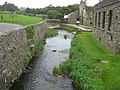 River Alun flowing between St David's Cathedral and the bishops palace - geograph.org.uk - 1515668.jpg