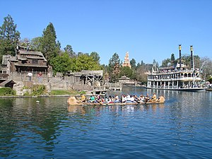 Rivers of America (Disney) - The Rivers of America and its various watercraft in Disneyland, 2007.