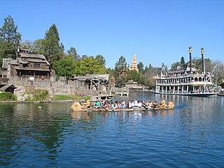 Artificial waterway inside multiple Disney Parks