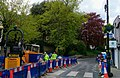 Road works at the Mount, Hampstead, May 2021.jpg