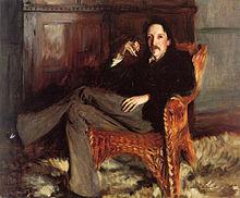 Robert Louis Stevenson - Gemälde von John Singer Sargent