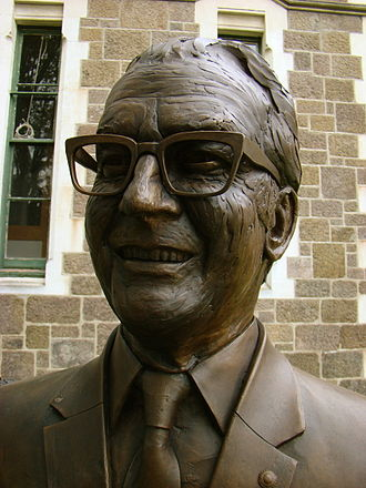 Robertson Stewart - Bronze bust of Sir Robertson Stewart, one of the Twelve Local Heroes sculpture series