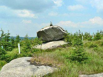 Rocking stone - Rocking Stone Viklan, Jelení stráň, Jizera Mountains