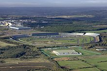 Aerial photograph of the Rockingham Motor Speedway, showing the full layout of the track.