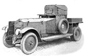 A Rolls Royce armoured car 1920 pattern