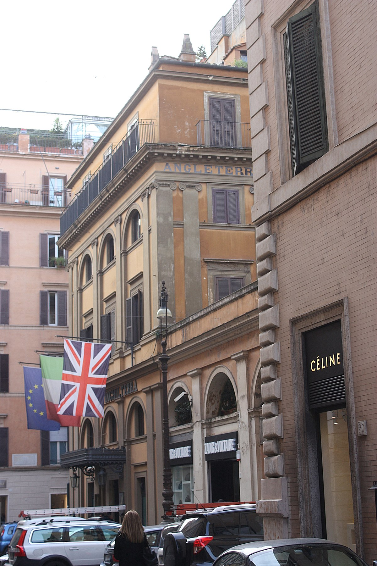H tel d 39 angleterre rome wikip dia for Small luxury hotels of the world wiki