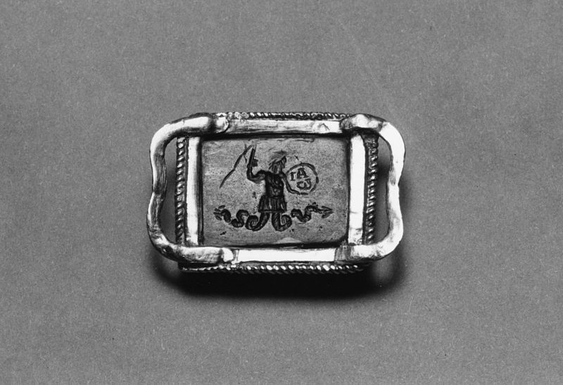 File:Roman - Amulet of Mithras Slaying the Bull, and the God Abraxas - Walters 42868 - Reverse.jpg