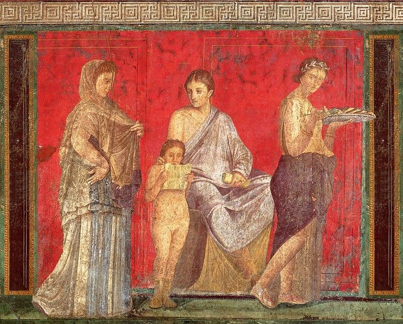Pitture e architetture di pompei for Fresque murale definition