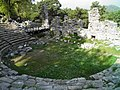 Roman theatre, built in the 2nd century on the foundations of the earlier Greek Hellenistic theatre, it had a capacity of around 2000 people, Phaselis, Lycia, Turkey (9646248556).jpg