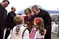 Romanian children greet Bushes 2002.jpg