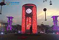 Romantic wedding stage decoration rental led display indoor screen.jpg