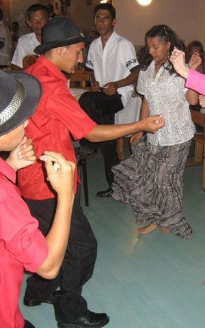 Romani people in Hungary - Young Hungarian Romani dancing