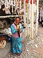 Rope saleswoman at Kashgar market. 2011.jpg