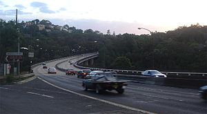 A38 (Sydney) - Early evening traffic of A38 on Roseville Bridge