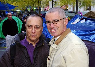 Jim McGreevey - Radio show host David Rothenberg and McGreevey at Occupy Wall Street, November 2011