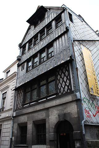 Фасад родного дома Корнеля в Руане (ныне музей)