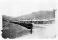 Row of homes and coal carts at Berwind, Colorado.png
