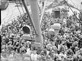 Royal Air Force personnel being evacuated from Brest, France