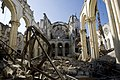 Rubbles of the cathedral after the earthquake that hit the Capital Port au Prince just before 5 pm on 12 January 2010.jpg