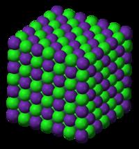 Rubidio NaCl de klorido strukturi