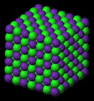 Rubidium chloride - Image: Rubidium chloride 3D ionic