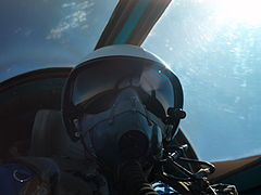 Self-portrait in a MiG-25 near Zhukovsky, Russia.