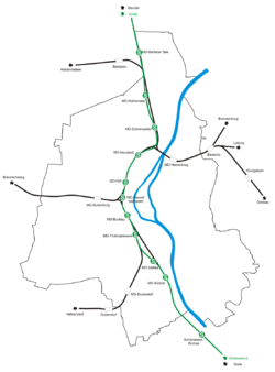 S-Bahn Magdeburg Map