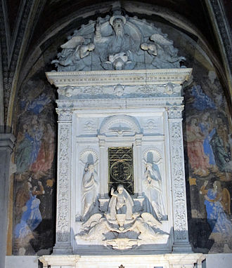 Eucharistic miracle - Tabernacle of the Church of Sant'Ambrogio in Florence for the city's Eucharistic miracle