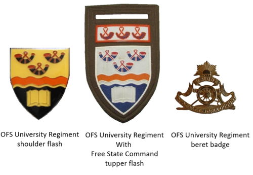 SADF era OFS University Regiment insignia