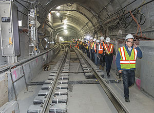 History of the Second Avenue Subway - The track junction with the BMT 63rd Street Line south of 72nd Street