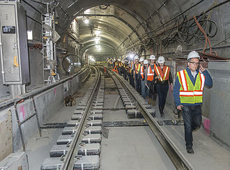 Second Avenue Subway - The track junction with the BMT 63rd Street Line south of 72nd Street
