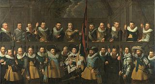 Schutters van de compagnie van kapitein Matthijs Willemsz. Raephorst en luitenant Hendrick Lauwrensz.?