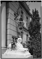 SCULPTURE ON NORTH PLINTH OF ENTRANCE STEPS - The Elms, Bellevue Avenue, Newport, Newport County, RI HABS RI,3-NEWP,60-8.tif