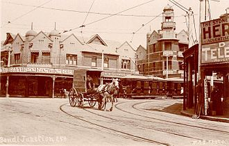 Bondi Junction, New South Wales - Bondi Junction in a postcard photograph taken in the period 1900-1927