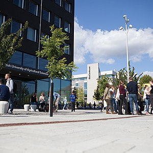SLU's main entrance in Uppsala.jpg