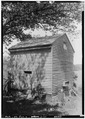 SMOKE HOUSE, WEST ELEVATION - Forks of Cypress, Savannah Road (Jackson Road), Florence, Lauderdale County, AL HABS ALA,39-FLO.V,3-24.tif