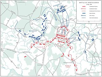 Battle of Spotsylvania Court House - Grant's grand assault, May 12 (additional map)