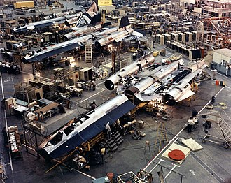 Lockheed SR-71 Blackbird - SR-71 Blackbird assembly line at Skunk Works