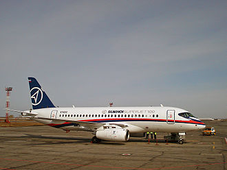 Tolmachevo Airport - Sukhoi Superjet 100 at Tolmachevo Airport