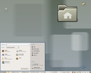 SUSE Linux Enterprise Desktop 10.1 - showing the Novell gnome-slab menu--2006, 11.png