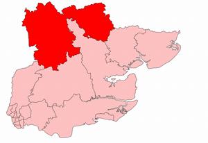 Saffron Walden (UK Parliament constituency) - Saffron Walden constituency in the county of Essex, showing boundaries from 1918–1950