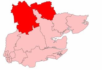 Saffron Walden (UK Parliament constituency) - Saffron Walden constituency in the county of Essex, showing boundaries from 1918–1950