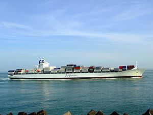 Safmarine Nokwanda p15 approaching Port of Rotterdam, Holland 20-May-2007.jpg