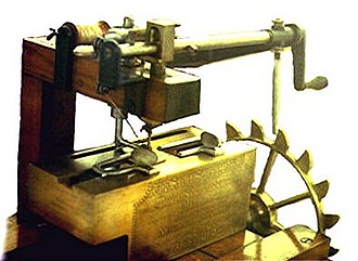 Sewing machine - Newton Wilson's copy of Saint's sewing machine.
