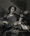Saint Cecilia. Engraving by L. Stocks after Domenichino. Wellcome V0031853.jpg