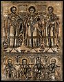 Saint Damian, Saint Pantaleon and Saint Cosmas with four mal Wellcome V0033222.jpg