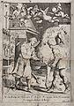 """Saint Eligius. Line engraving by """"il Buono"""". Wellcome V0031928.jpg"""