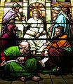 Saint Joseph Catholic Church (Wapakoneta, Ohio) - stained glass, Christ Child among the doctors.jpg